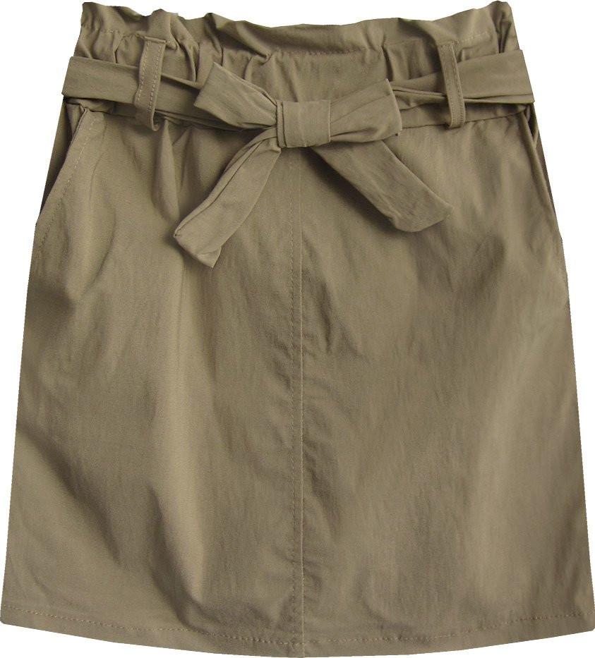 Béžová dámská mini sukně s kapsami (387ART) béžová S (36)