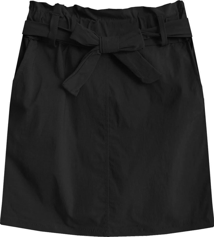 Černá dámská mini sukně s kapsami (387ART) černá S (36)