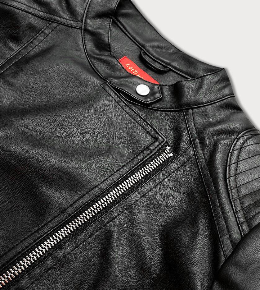 Čierna dámska koženková bunda (TD1356) černá 46