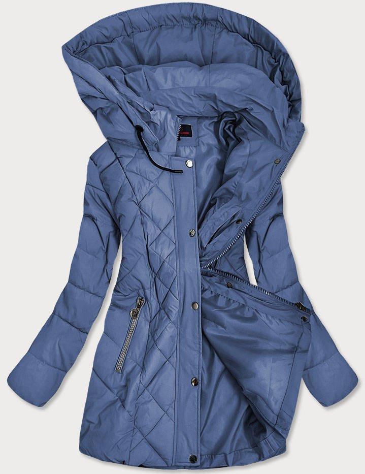 Svetlo modrá prešívaná dámska bunda (2025-1) modrý M (38)