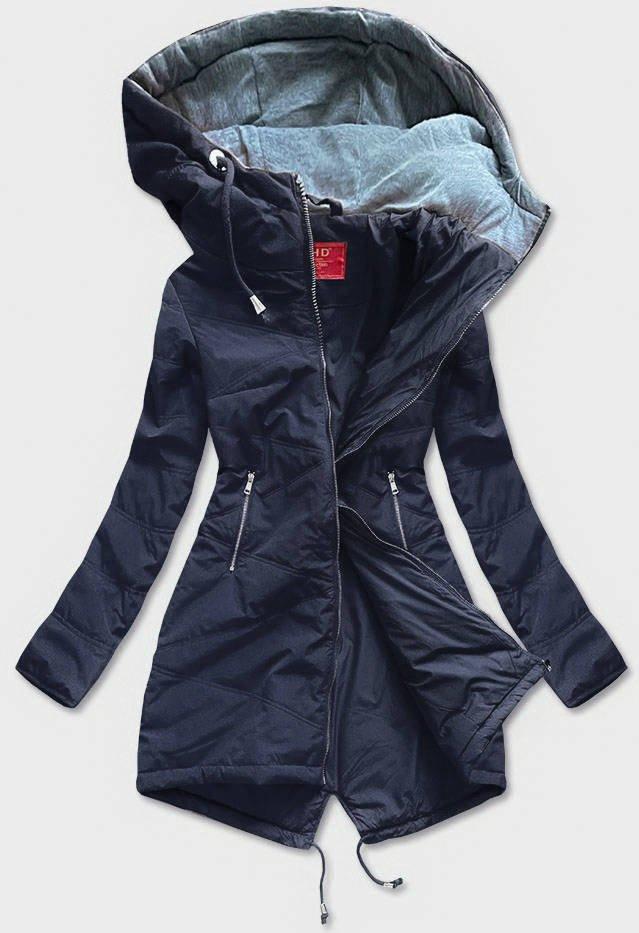 Tmavo modrá vypasovaná dámska bunda (M-165) tmavěmodrá M (38)