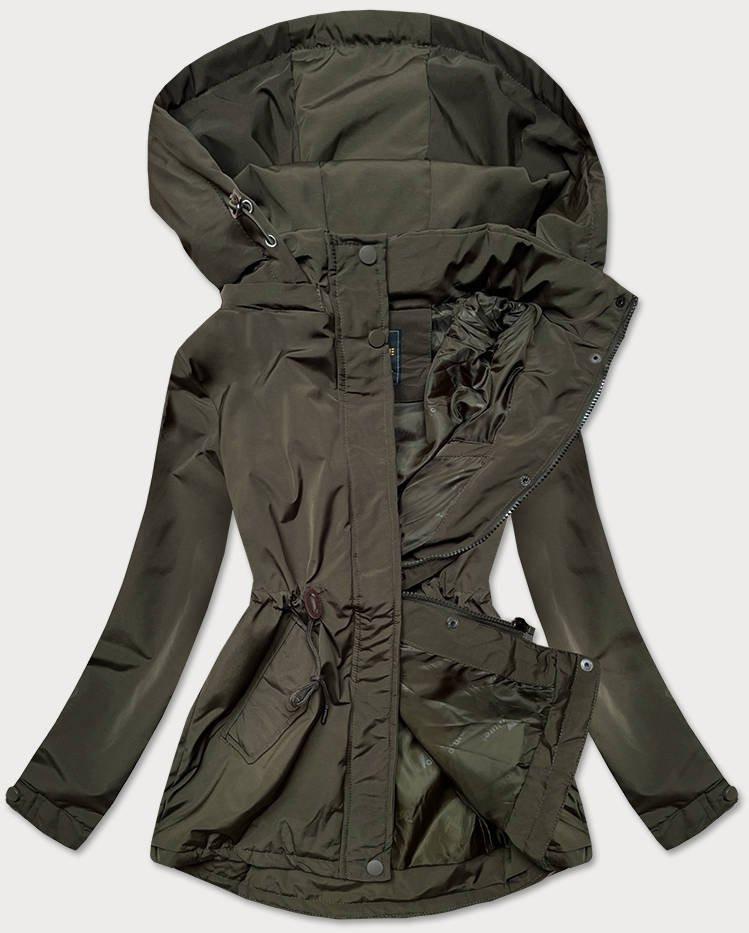 Dámska bunda parka v khaki farbe (6365BIG) khaki 46