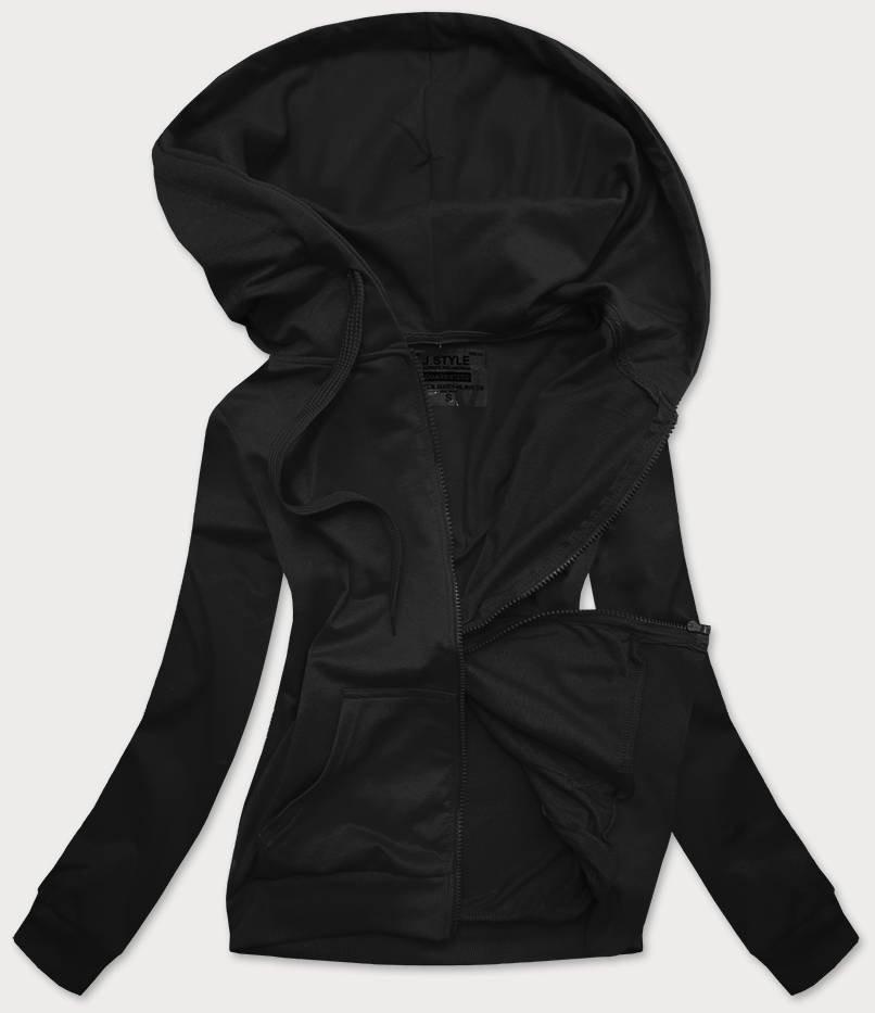 Čierna dámska mikina s kapucňou (20003) černá XL (42)