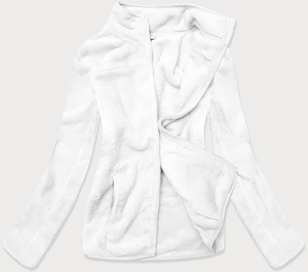 Biela dámska flaušová mikina (HH001-45) bílá XL (42)