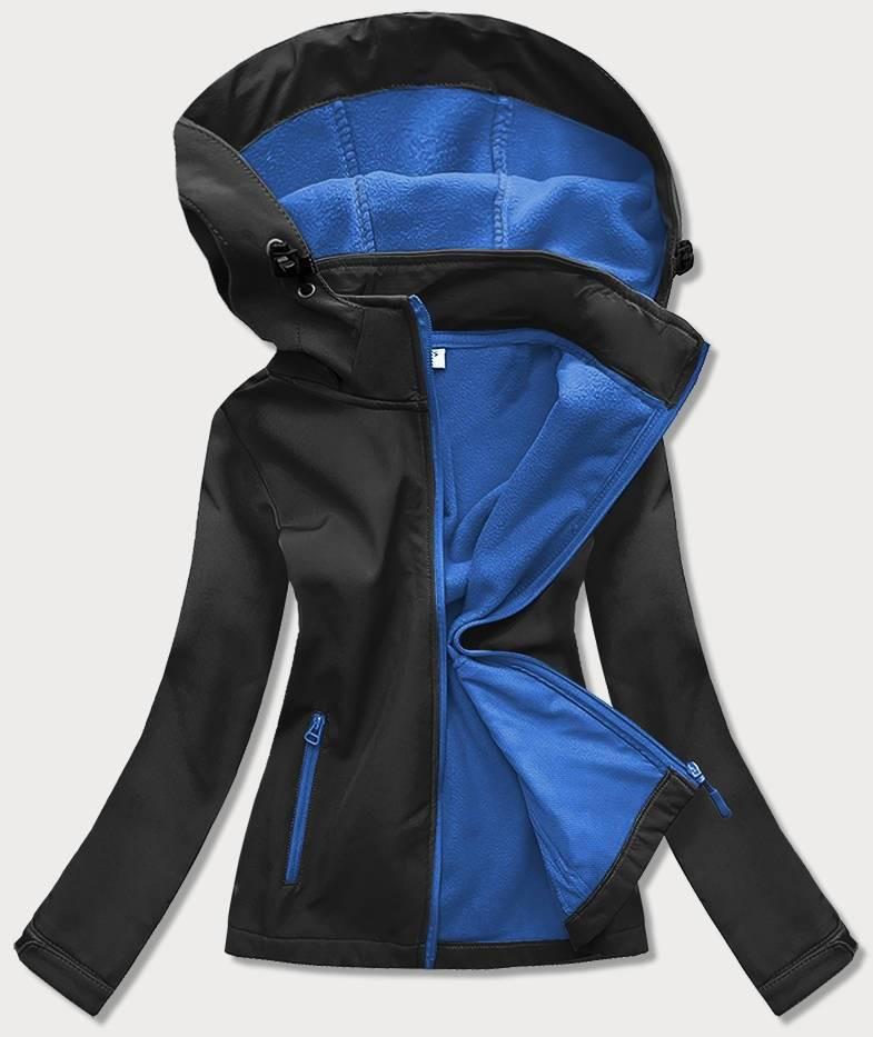 Černo-světle modrá dámská trekingová bunda-mikina (HH018-1-9) czarny S (36)