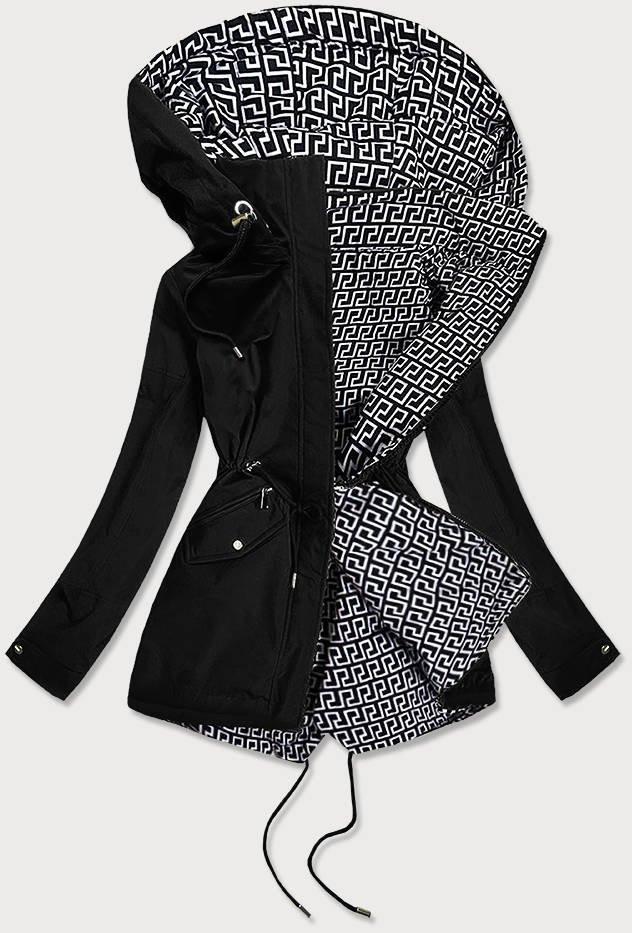 Obojstranná čierna dámska bunda (BR9762) bílá 46
