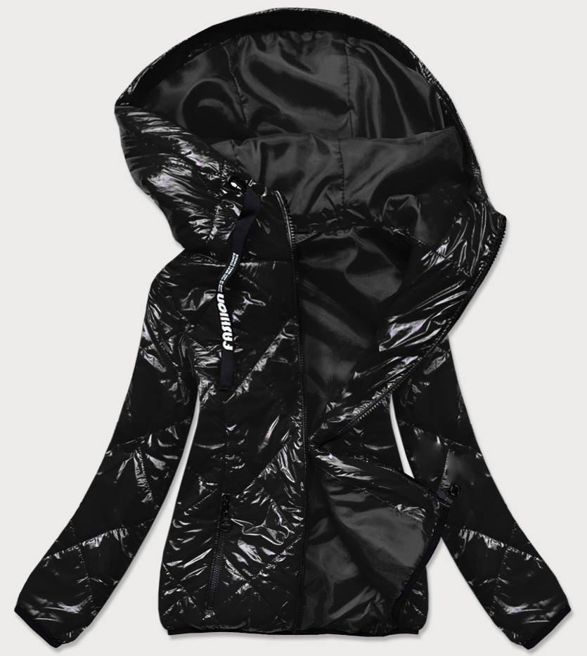 Čierna dámska prešívaná bunda (BR9776) černá 48