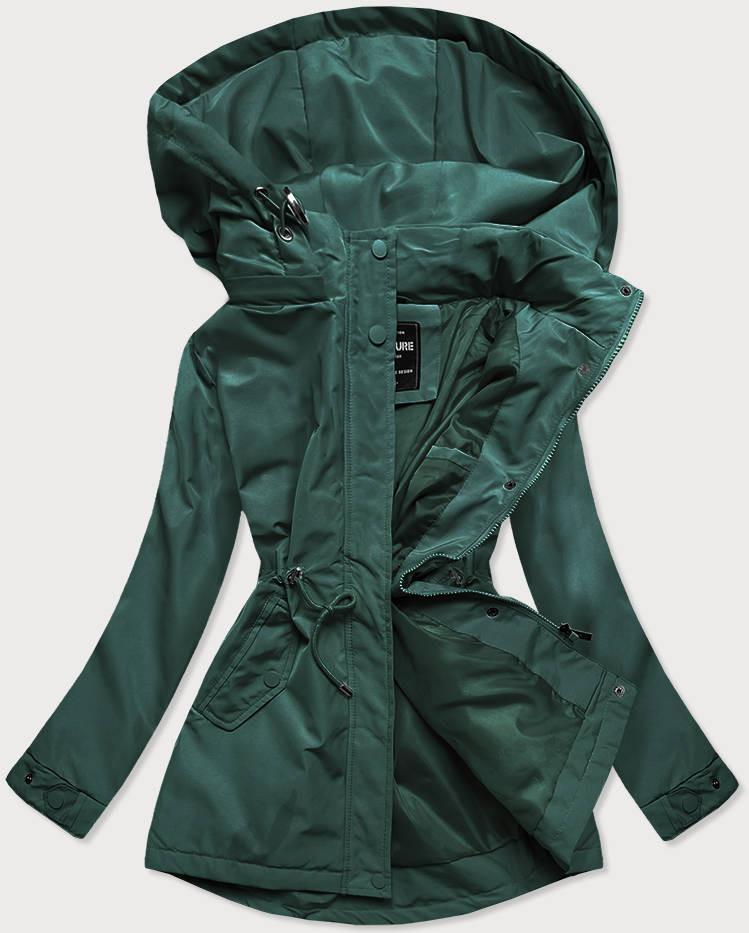 Zelená dámska bunda parka (RQW-6852) zielony XXL (44)