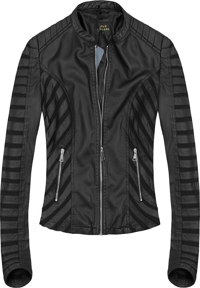 Černá bunda se síťovanými vsadkami (5267) černá XL (42)
