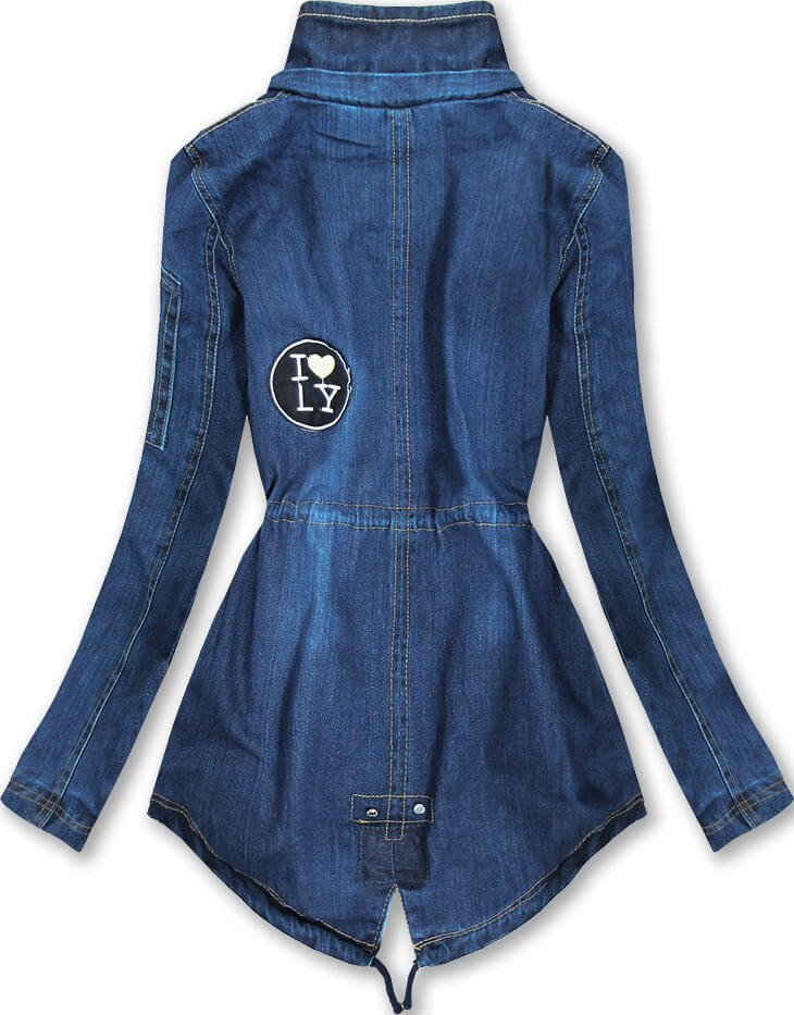 Tmavě modrá džínová bunda 2 (W523) modrá S (36)