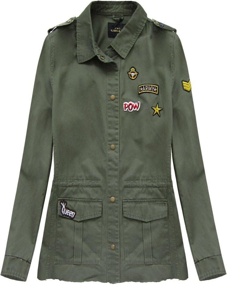 ac723c153f8 Bunda v khaki barvě v military stylu (7072) khaki L (40)