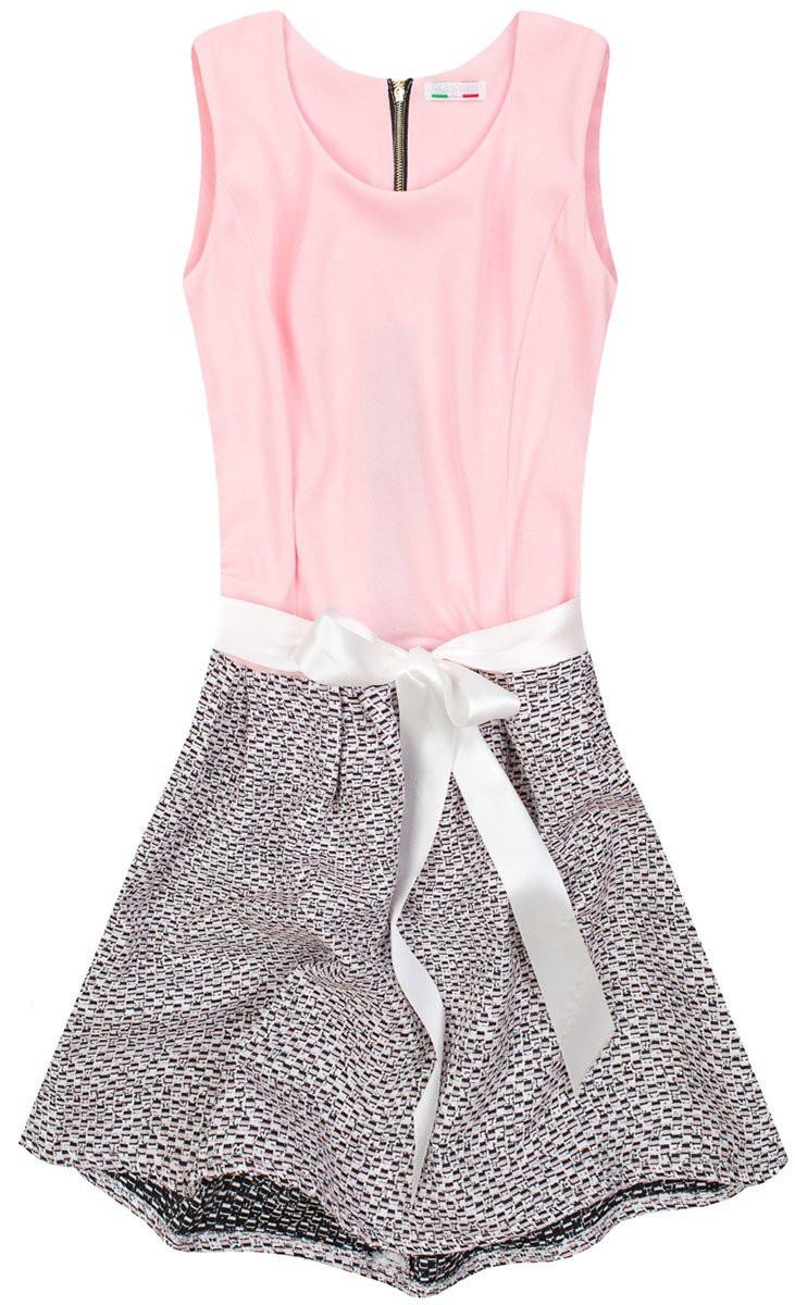 Ružové rozšírené šaty (3054/4) różowy XL (42)