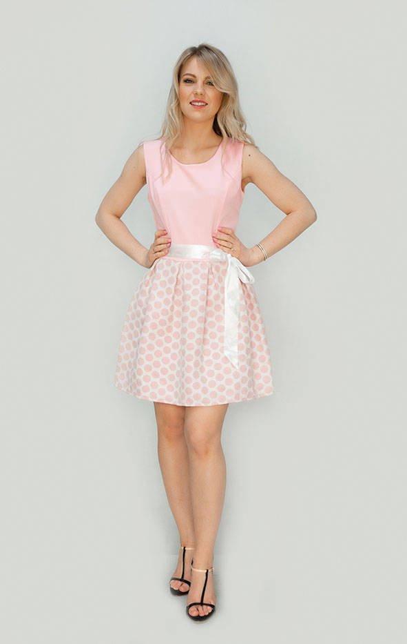 Ružové rozšírené šaty (3054/1) różowy XL (42)
