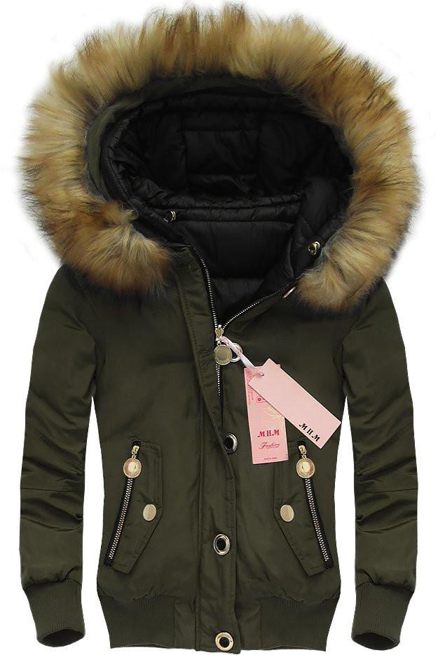 Khaki krátká oboustranná bunda (W708) khaki XL (42)