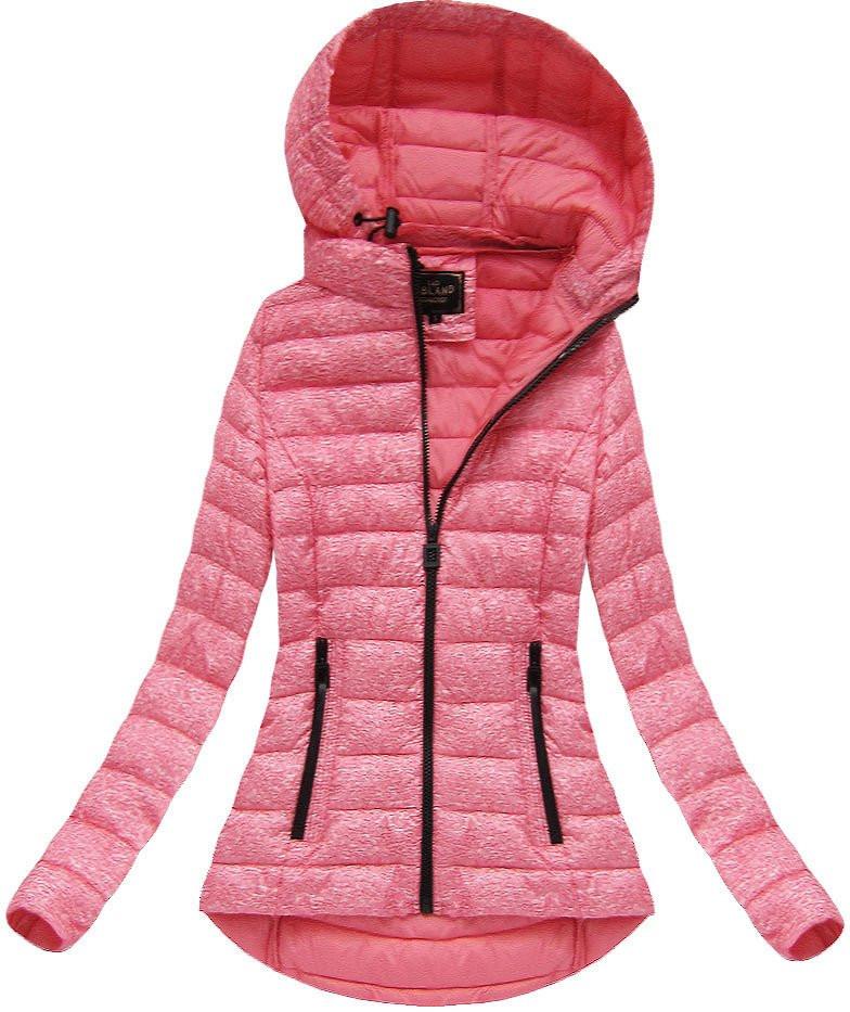 Ružová dámska bunda s kapucňou (7210BIG) różowy 50