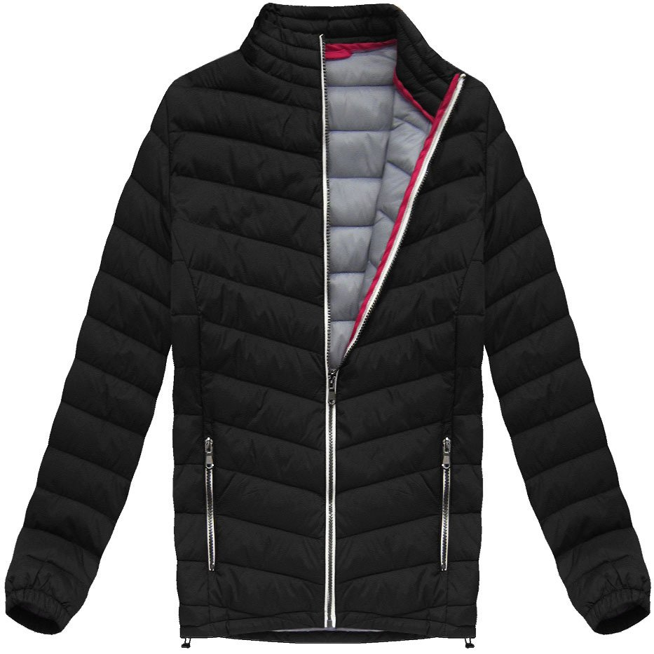 Černá prošívaná bunda (21872) Barva: černá, Velikost: M