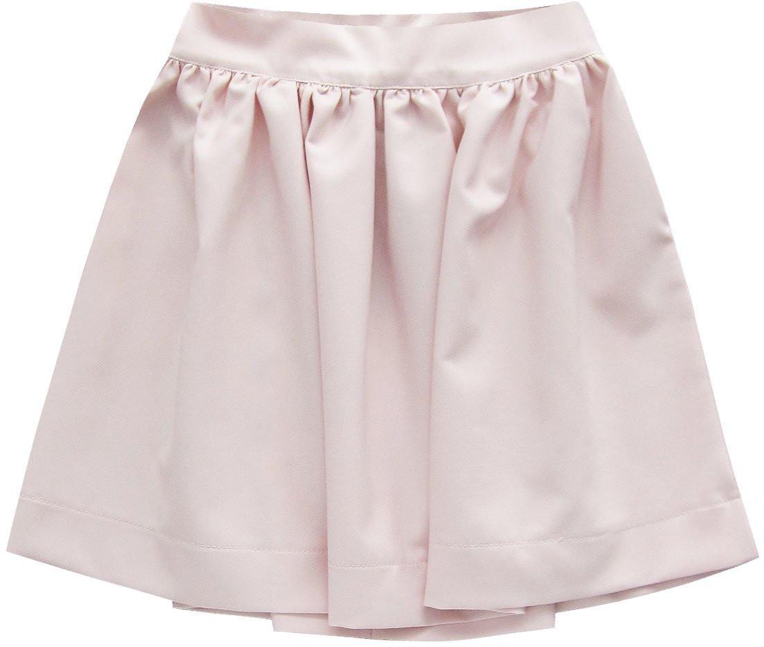 Rozšířená sukně v pudrově růžové barvě se zipem (88ART) růžová M (38)