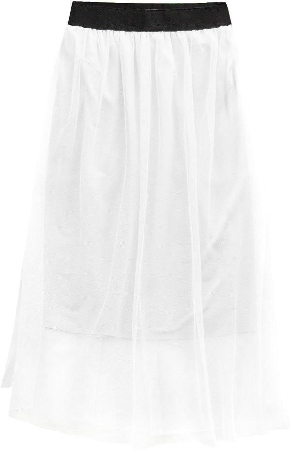 Bílá prodyšná sukně s délkou midi (96ART) bílá ONE SIZE
