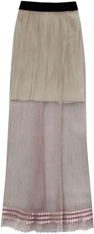 Prodyšná hnědá plisovaná sukně (98ART) hnědá ONE SIZE
