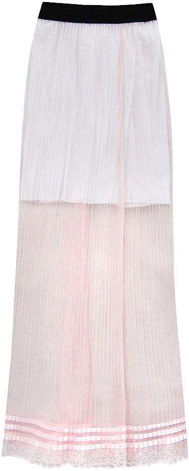 Prodyšná růžová plisovaná sukně (98ART) růžová ONE SIZE
