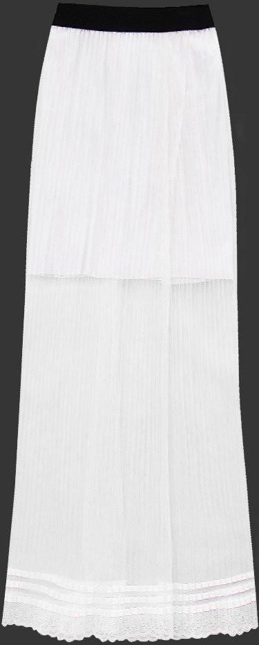 Prodyšná bílá plisovaná sukně 1 (98ART) bílá ONE SIZE