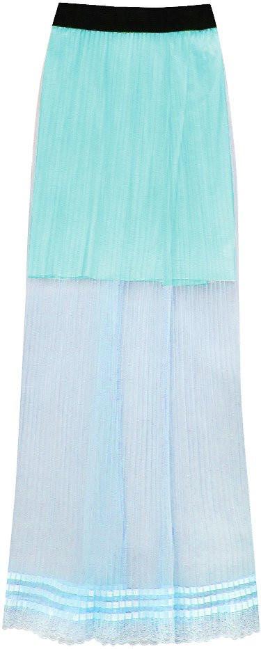 Podyšná světle modrá plisovaná sukně (98ART) modrá ONE SIZE