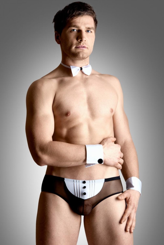 Pánský kostým Waiter set bílá XL