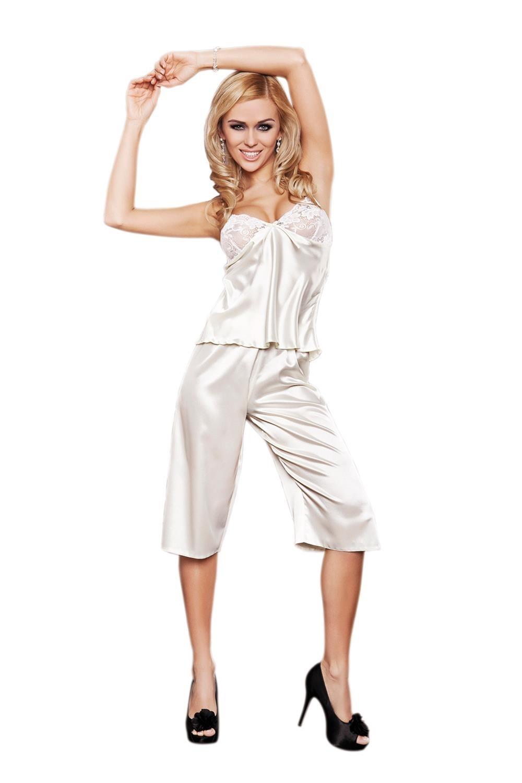 Dámské pyžamo Emma cream krémová L