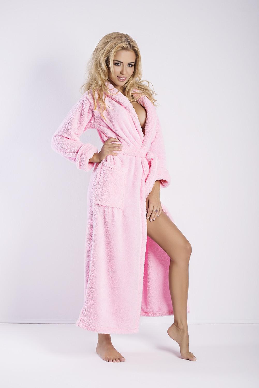 Dámský župan Eliza long pink růžová XXL