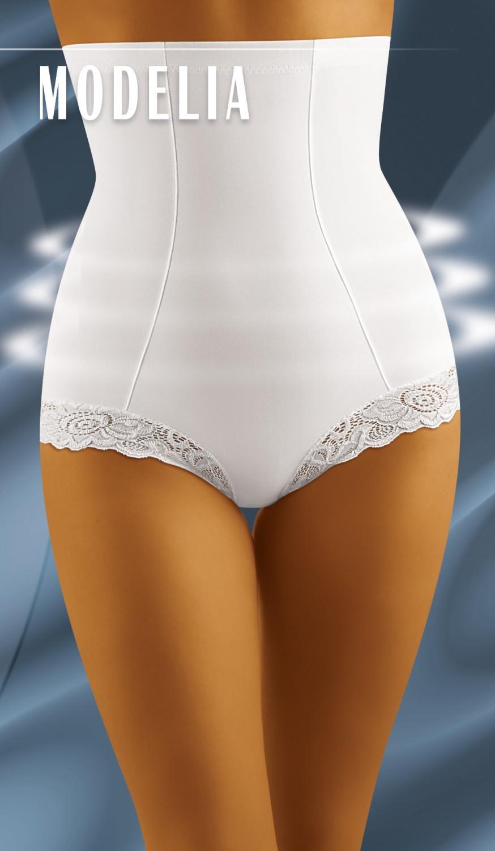 Stahovací kalhotky Modelia white bílá M