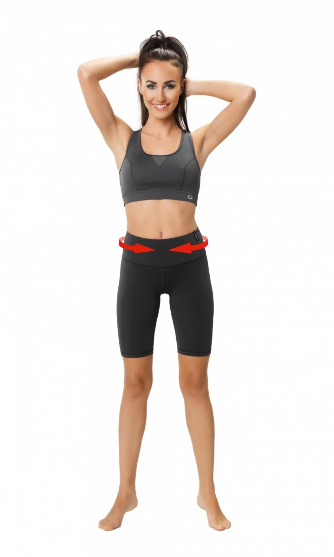 Fitness šortky Slimming shorts - WINNER čierna XL
