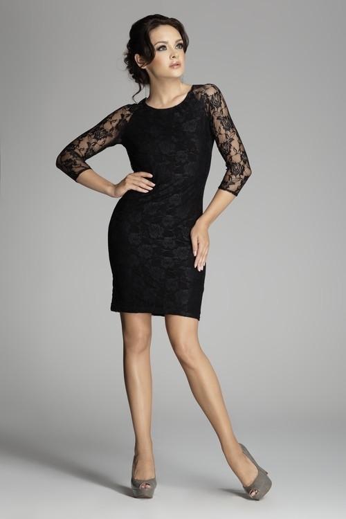 Dámske šaty M076 black - fígľov čierna L