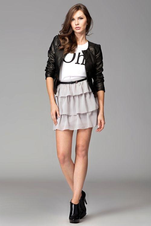 Dámská sukně M093 grey šedá L