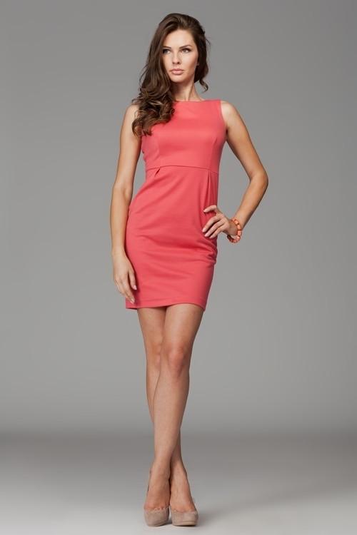 Dámske šaty M079 coral - fígľov korálová XL