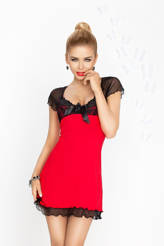 Dámská košilka Irina red-black červeno-černá M