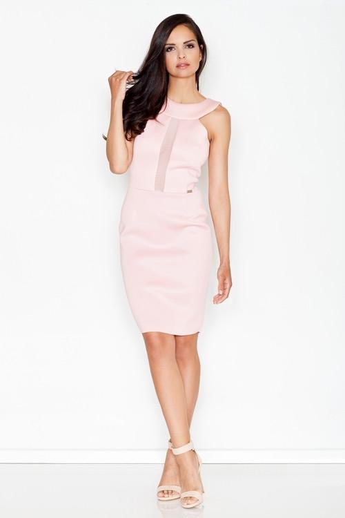 Dámske šaty M372 ružové - FIGL růžová XL