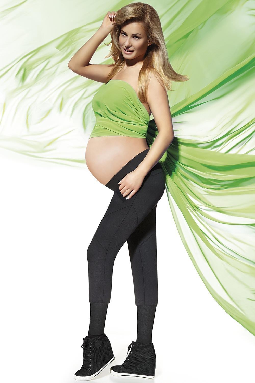 Tehotenské legíny Veronica - BAS BLEU čierna XL