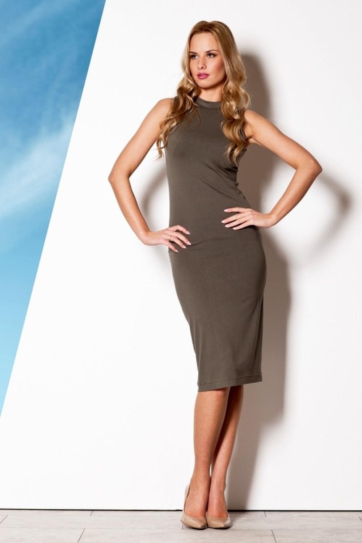 Dámske šaty M263 olive - fígľov olivová L
