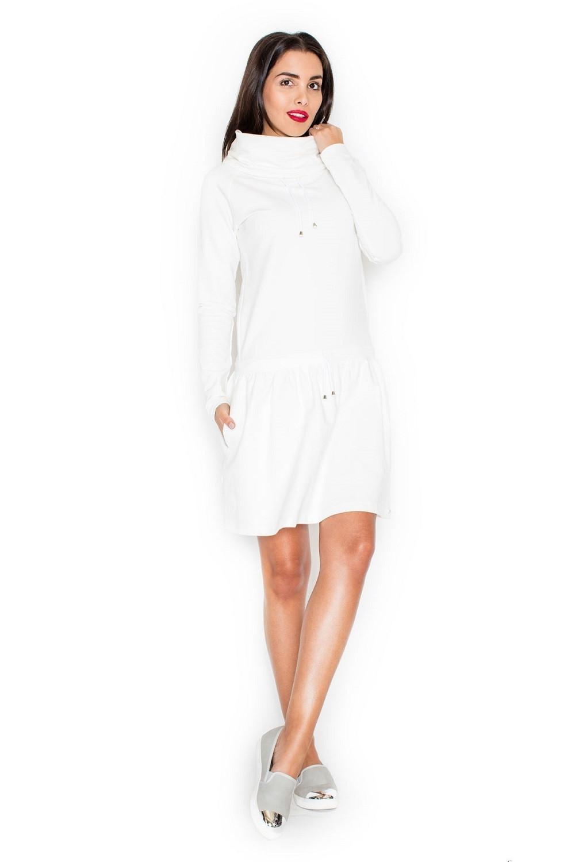 Dámské šaty K260 ecru krémová S