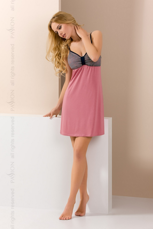 Noční košile Passion PY046 růžová XXL