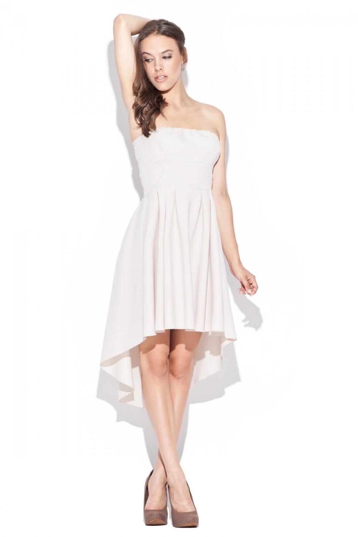 Dámské šaty K031 beige béžová L