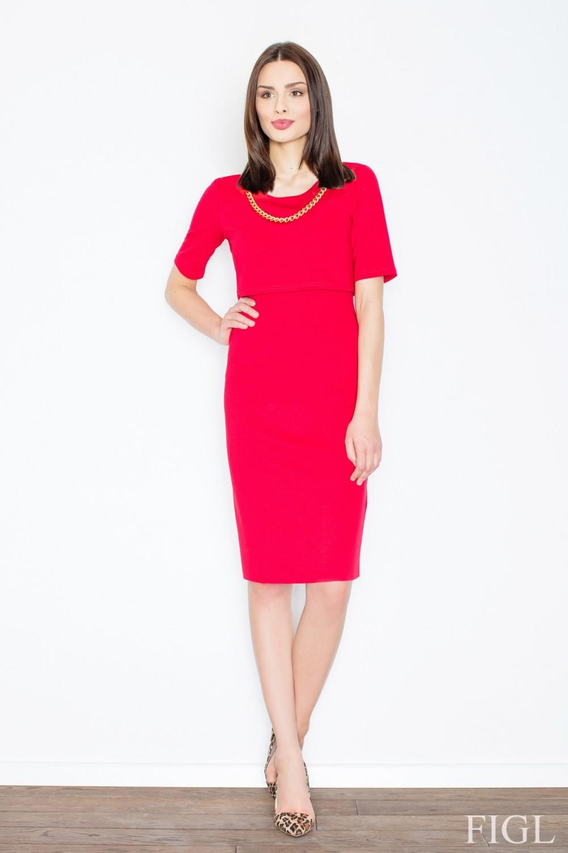 Dámske šaty M446 red - fígľov červená L