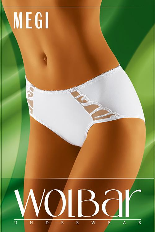 Dámské kalhotky Megi white bílá XXL