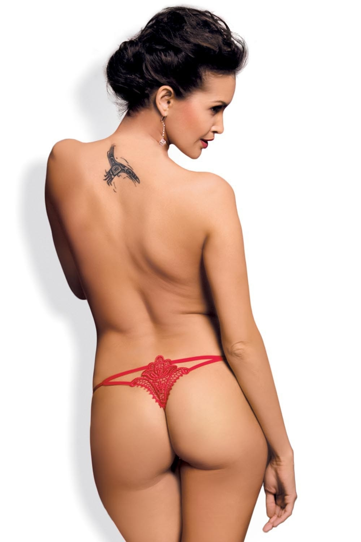 Dámske tangá Luiza thong red - OBSESSIVE červená L / XL