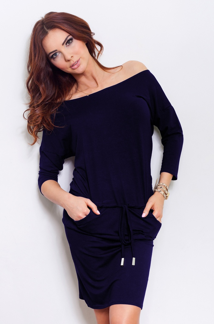 Dámske šaty 13-15 - NUMOCO tmavo modrá XL