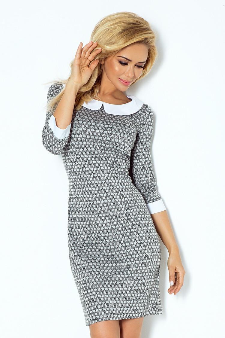 Dámské šaty 111-2 šedá S