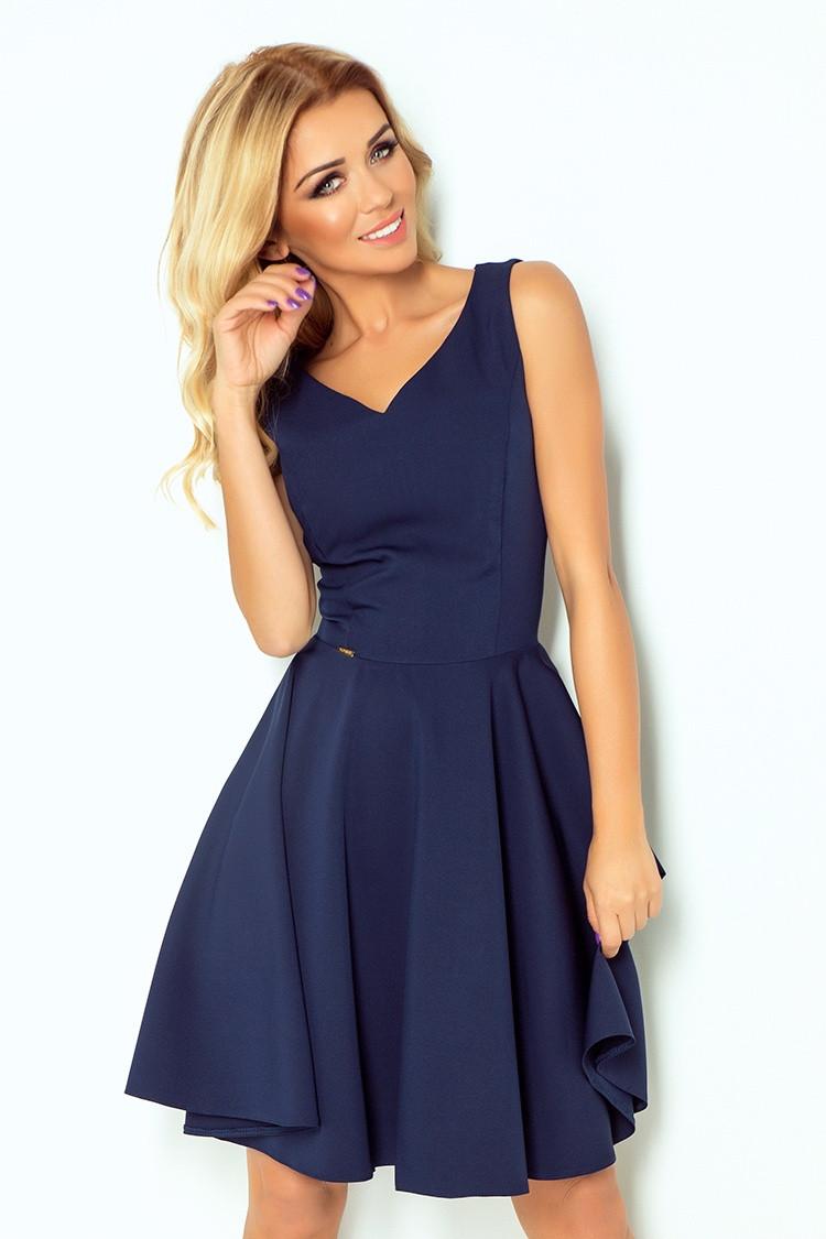 Dámske šaty 114-7 - NUMOCO tmavo modrá XXL