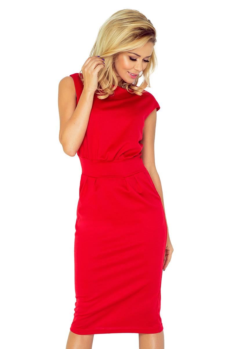 Dámske šaty 144-2 - NUMOCO červená XS