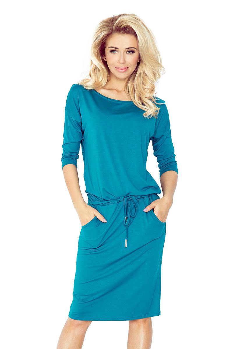 Dámske šaty 13-63 - NUMOCO modrá XL