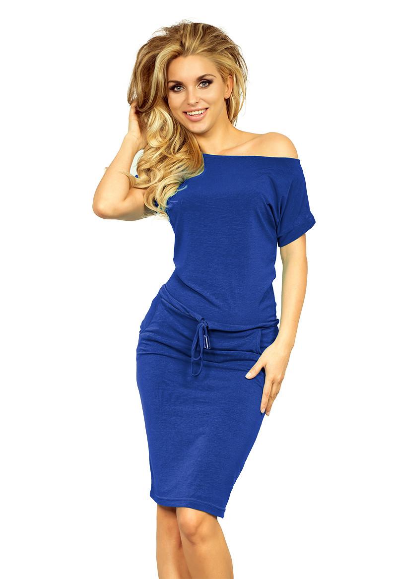 Dámské šaty 139-3 - NUMOCO královská modrá XS